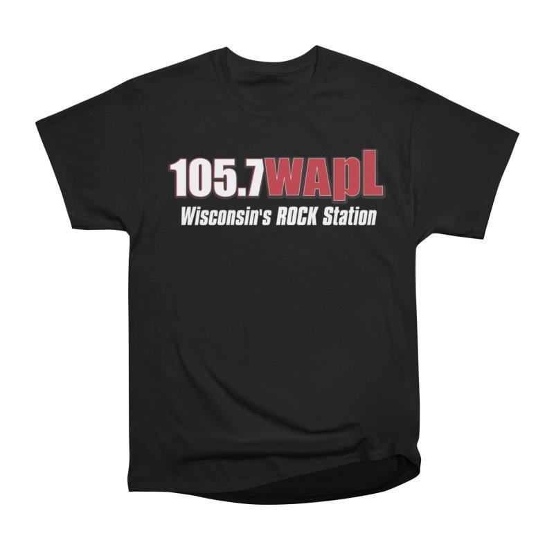 WAPL Horizontal Logo (White Lettering) Men's T-Shirt by 105.7 WAPL Store