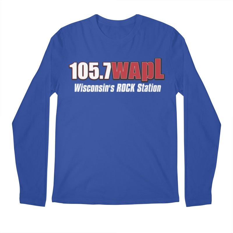 WAPL Horizontal Logo (White Lettering) Men's Regular Longsleeve T-Shirt by 105.7 WAPL Web Store
