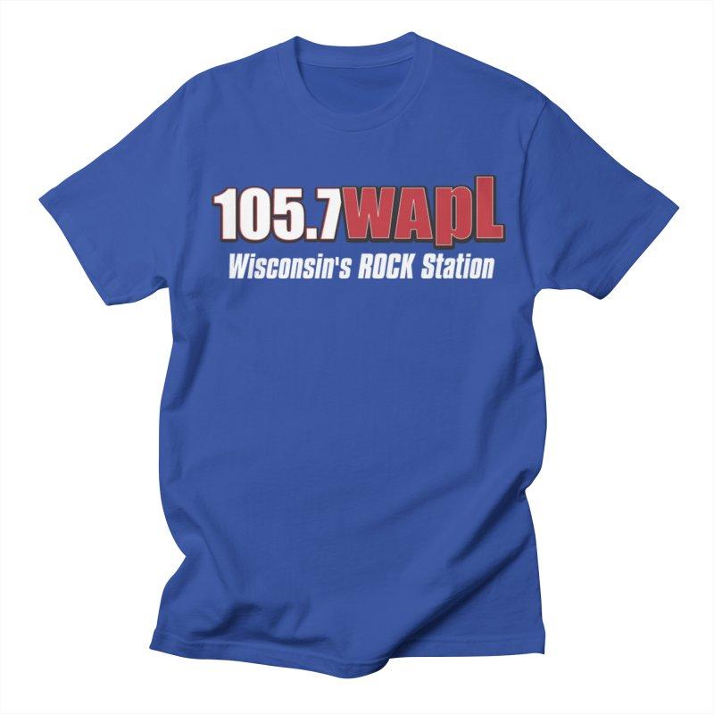 WAPL Horizontal Logo (White Lettering) Men's Regular T-Shirt by 105.7 WAPL Web Store