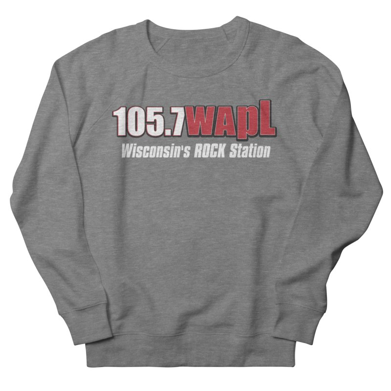 WAPL Horizontal Logo (White Lettering) Men's French Terry Sweatshirt by 105.7 WAPL Web Store