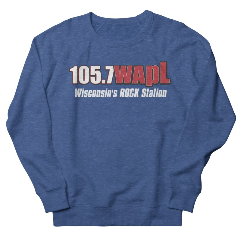 WAPL Horizontal Logo (White Lettering) Men's French Terry Sweatshirt by 105.7 WAPL Web Store