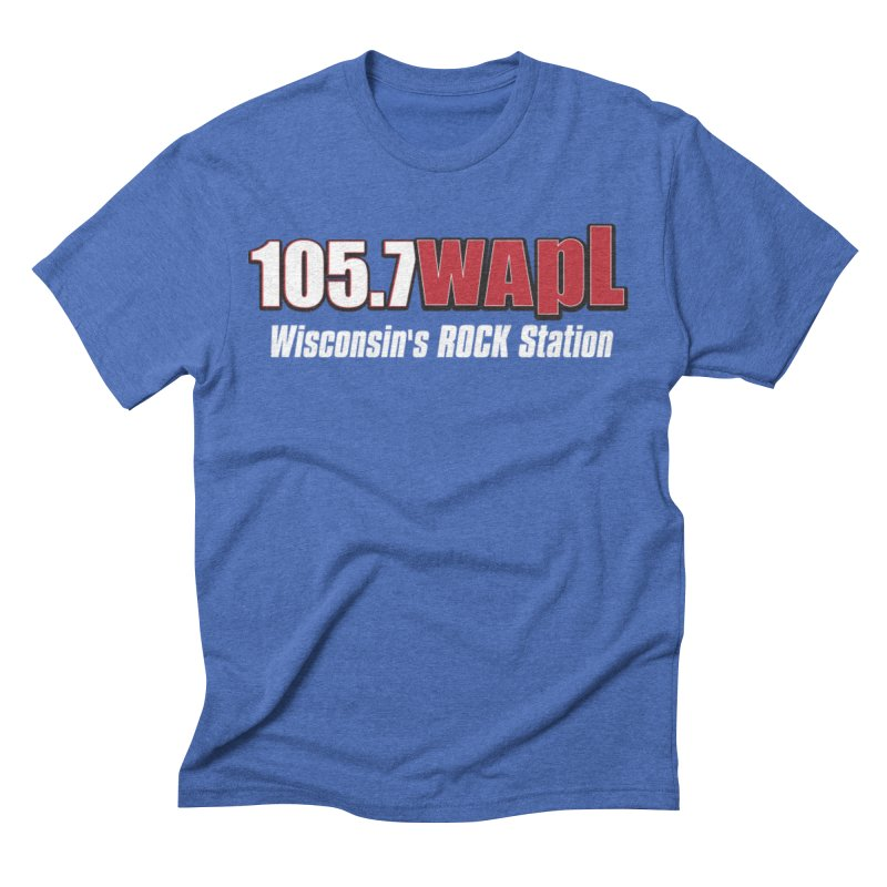 WAPL Horizontal Logo (White Lettering) Men's Triblend T-Shirt by 105.7 WAPL Web Store