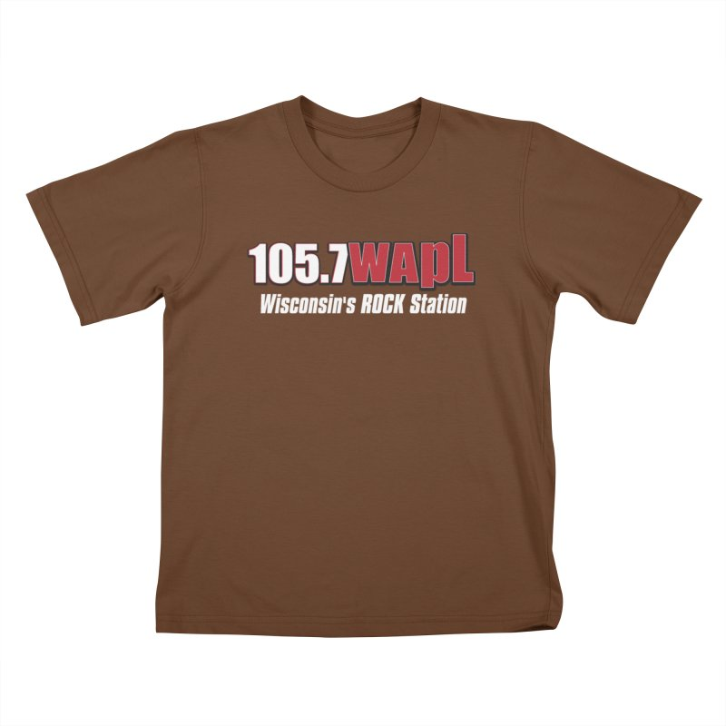 WAPL Horizontal Logo (White Lettering) Kids T-Shirt by 105.7 WAPL Web Store