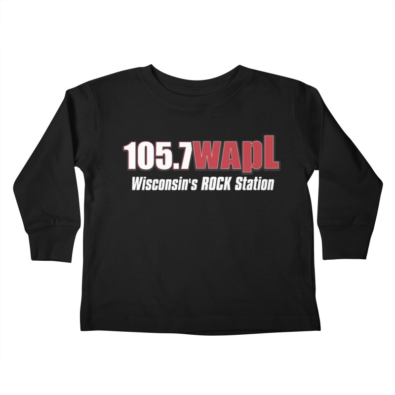 WAPL Horizontal Logo (White Lettering) Kids Toddler Longsleeve T-Shirt by 105.7 WAPL Web Store