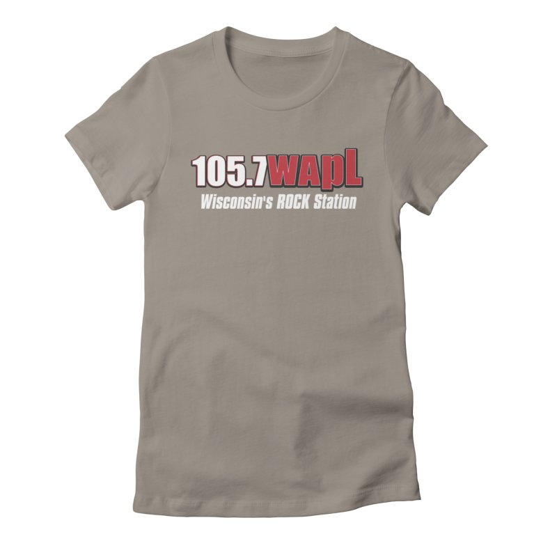 WAPL Horizontal Logo (White Lettering) Women's Fitted T-Shirt by 105.7 WAPL Web Store