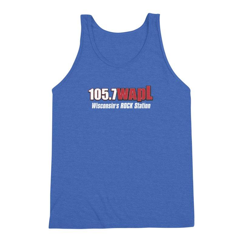 WAPL Horizontal Logo (White Lettering) Men's Triblend Tank by 105.7 WAPL Web Store