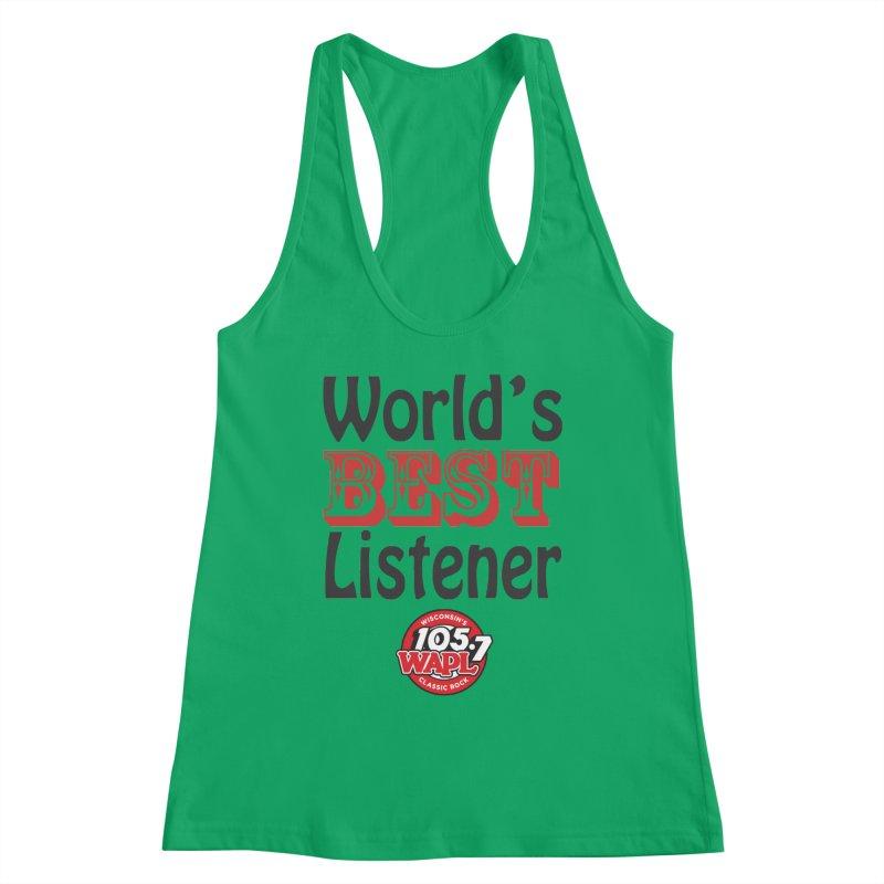 World's Best Listener Women's Tank by 105.7 WAPL Store