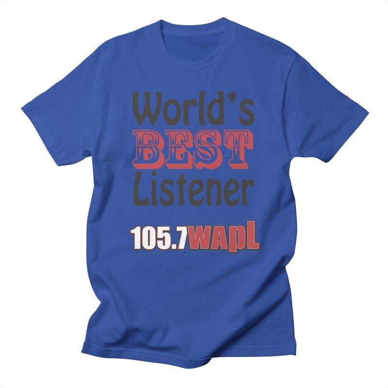 World's Best Listener Men's Regular T-Shirt by 105.7 WAPL Web Store