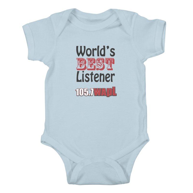 World's Best Listener Kids Baby Bodysuit by 105.7 WAPL Web Store