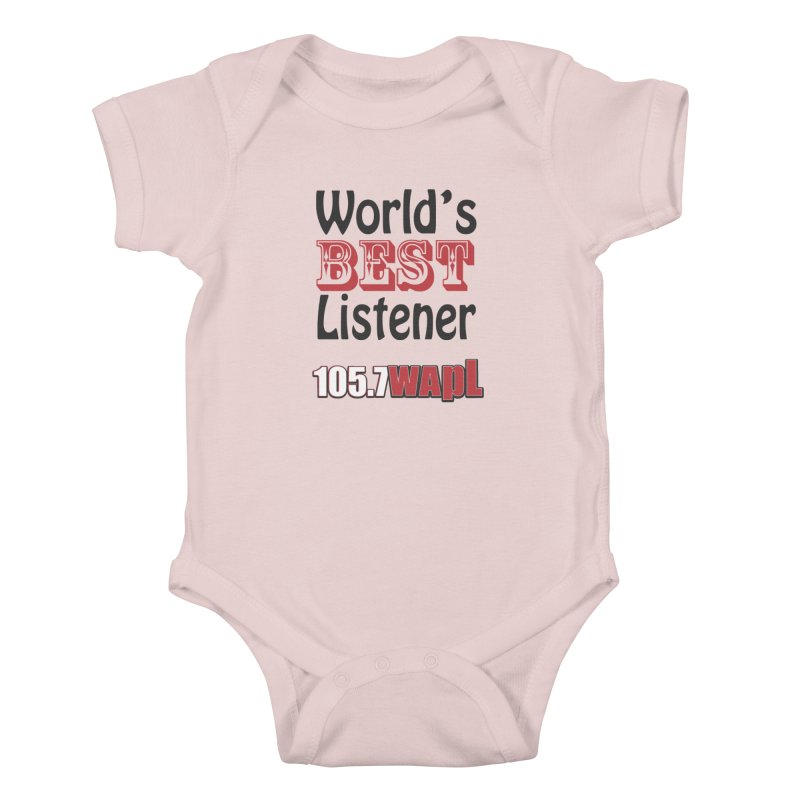 World's Best Listener Kids Baby Bodysuit by 105.7 WAPL Web Store