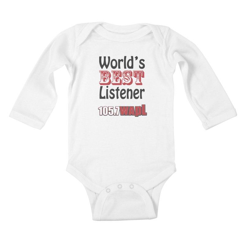 World's Best Listener Kids Baby Longsleeve Bodysuit by 105.7 WAPL Web Store