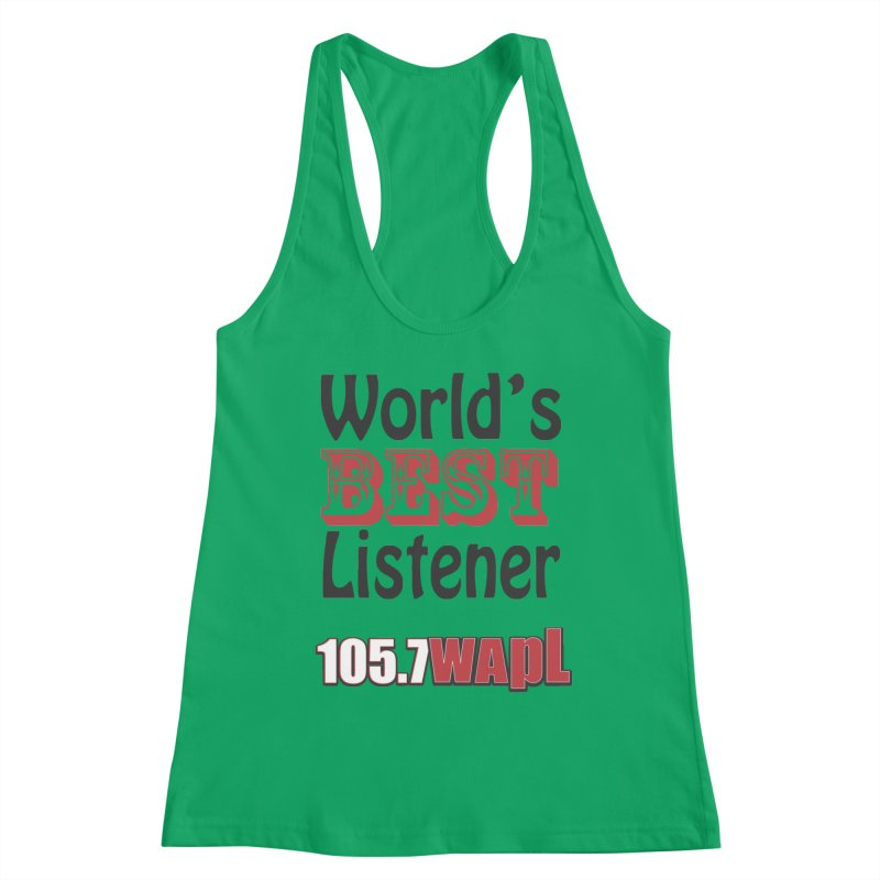 World's Best Listener Women's Tank by 105.7 WAPL Store