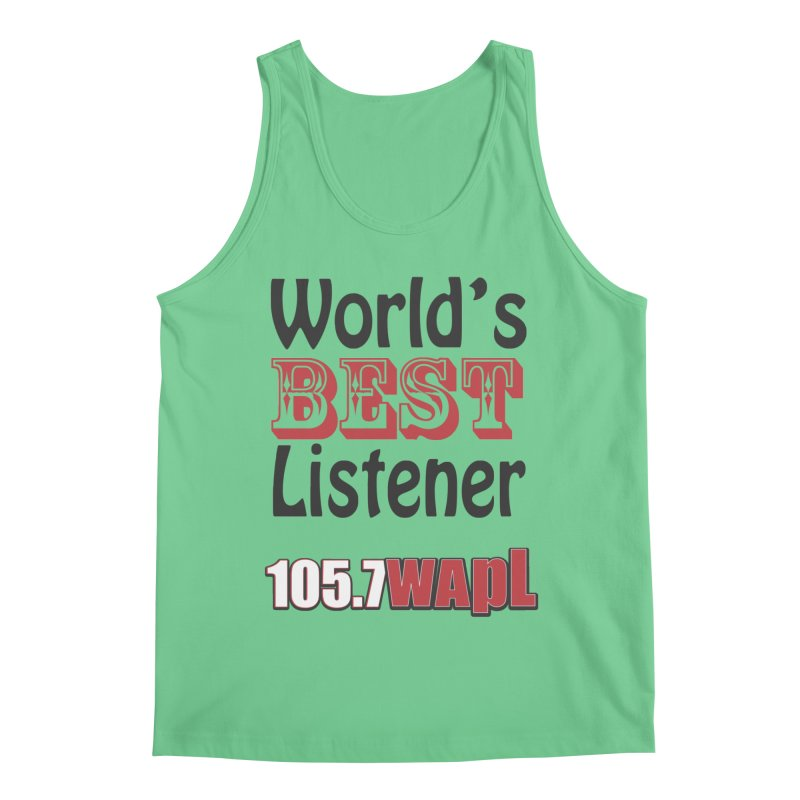World's Best Listener Men's Tank by 105.7 WAPL Web Store