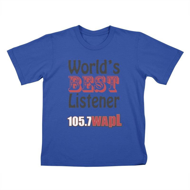 World's Best Listener Kids T-Shirt by 105.7 WAPL Web Store