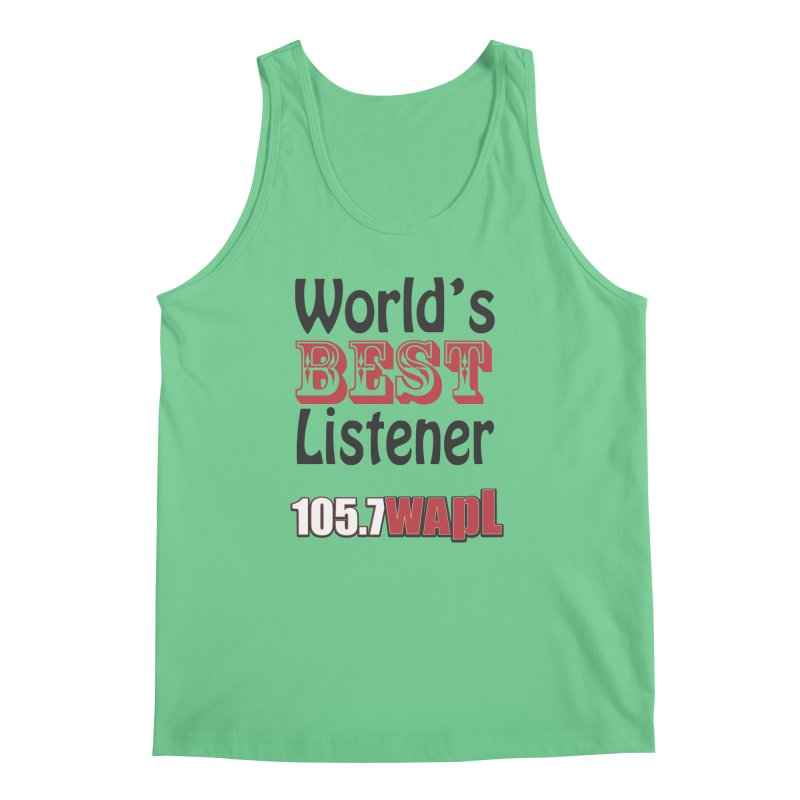 World's Best Listener Men's Regular Tank by 105.7 WAPL Web Store