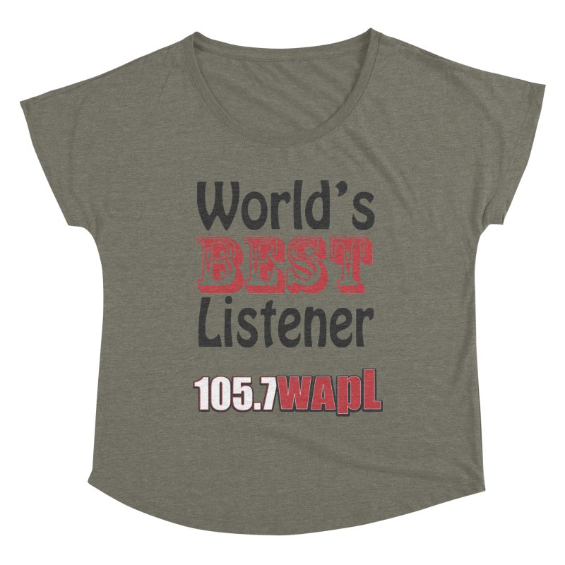 World's Best Listener Women's Scoop Neck by 105.7 WAPL Store