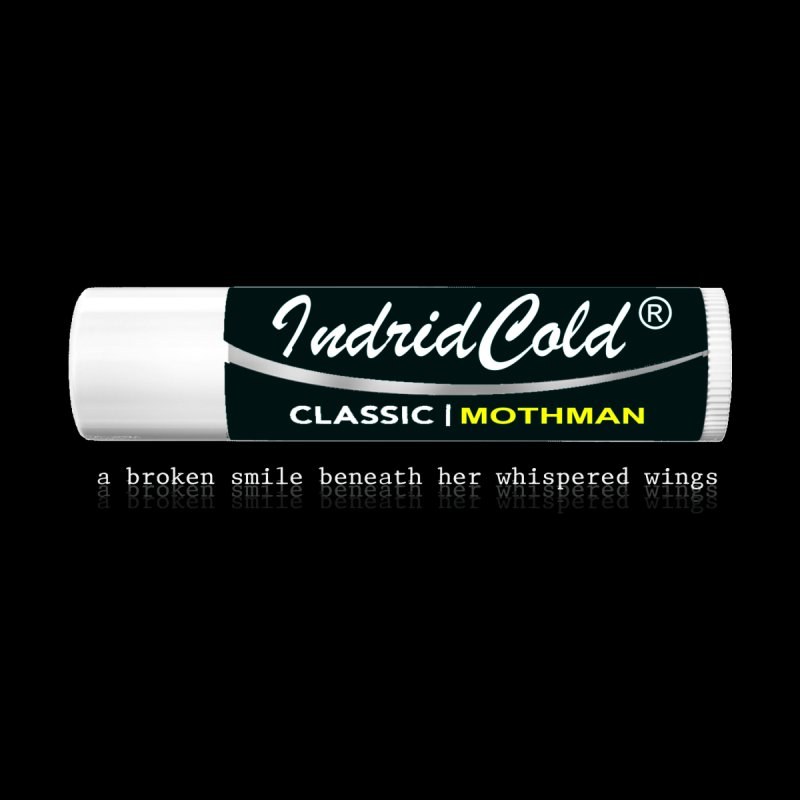 "Indrid Cold ""Mothman"" Lip Balm T-Shirt by The 10x Records Emporium"