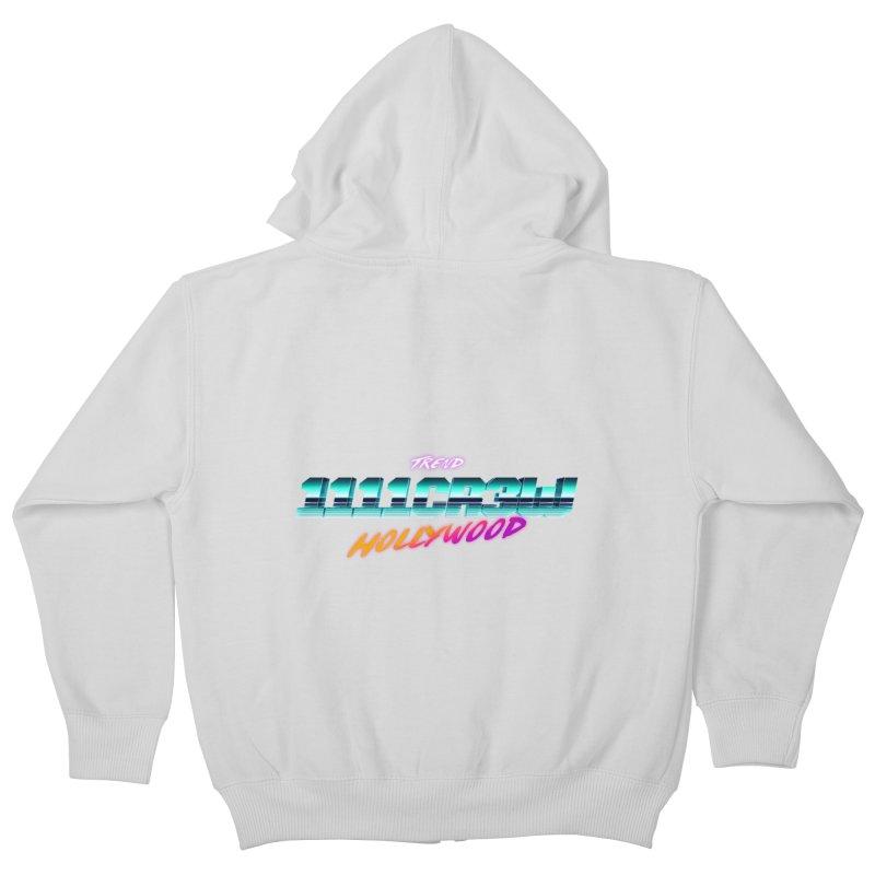 Trend Hipster Kids Zip-Up Hoody by 1111cr3w's Artist Shop