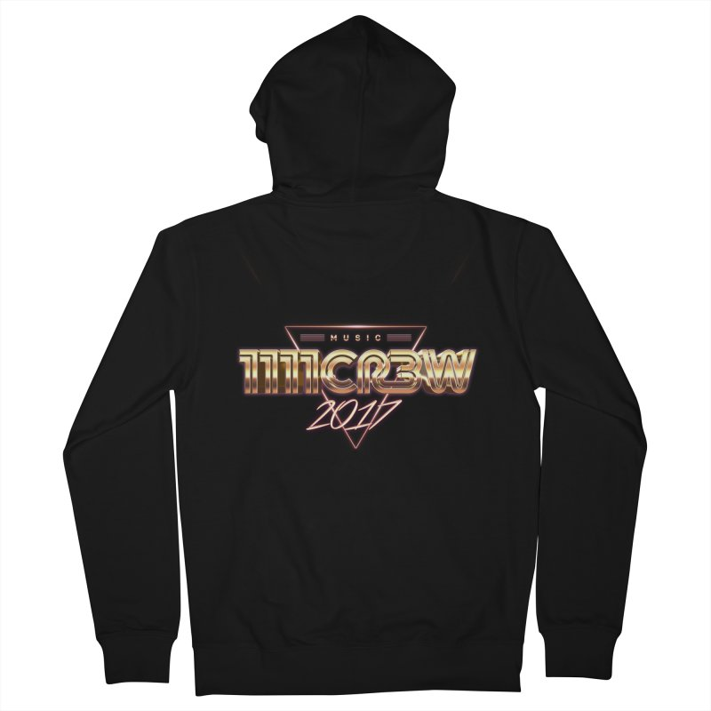 MUSIC in Men's French Terry Zip-Up Hoody Black by 1111cr3w's Artist Shop