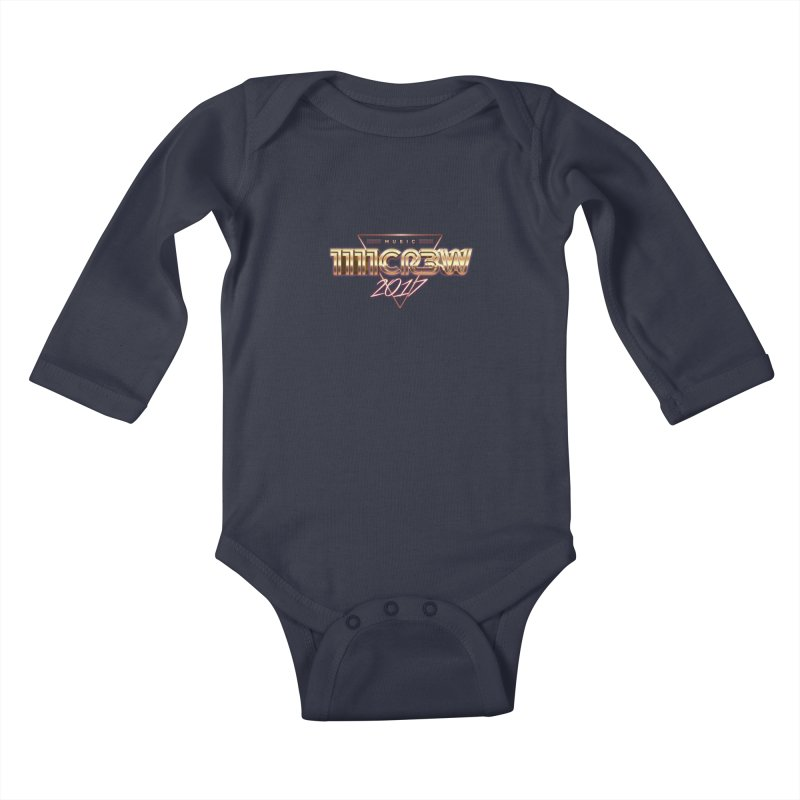MUSIC Kids Baby Longsleeve Bodysuit by 1111cr3w's Artist Shop