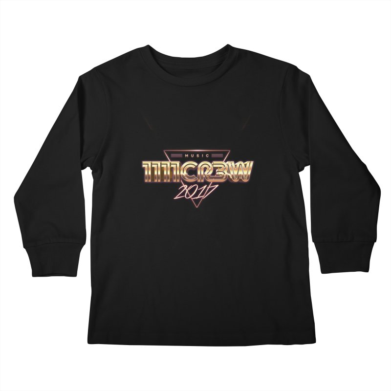 MUSIC Kids Longsleeve T-Shirt by 1111cr3w's Artist Shop
