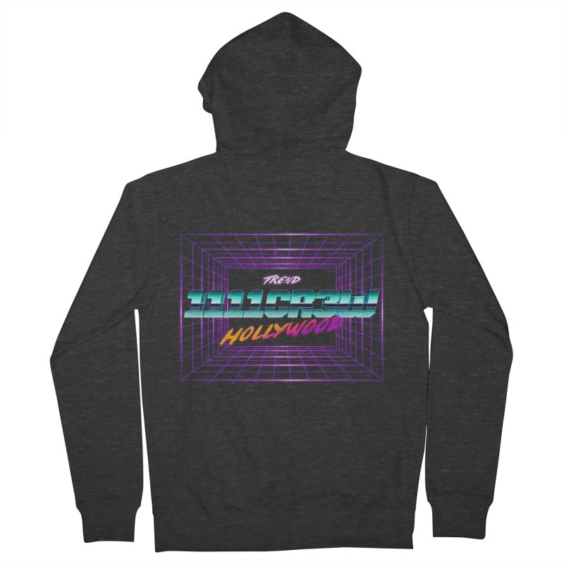 1111 Hollywood (Square) Men's Zip-Up Hoody by 1111cr3w's Artist Shop