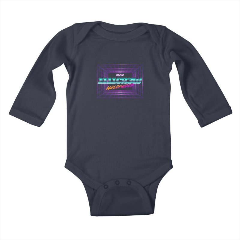 1111 Hollywood (Square) Kids Baby Longsleeve Bodysuit by 1111cr3w's Artist Shop