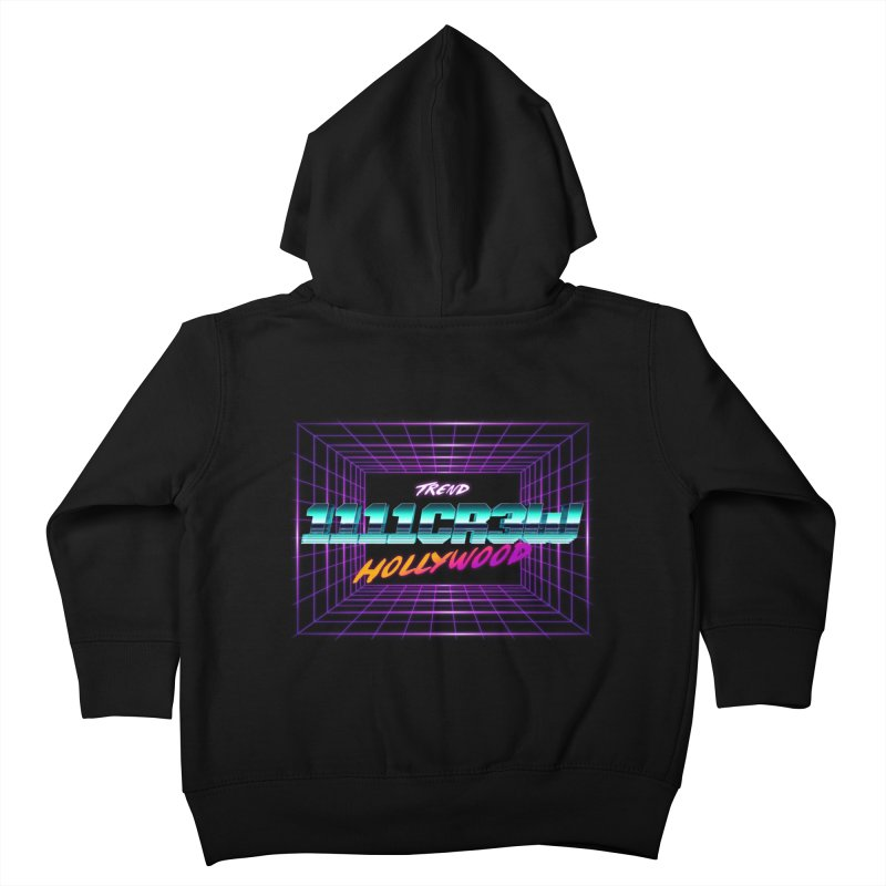 1111 Hollywood (Square) Kids Toddler Zip-Up Hoody by 1111cr3w's Artist Shop