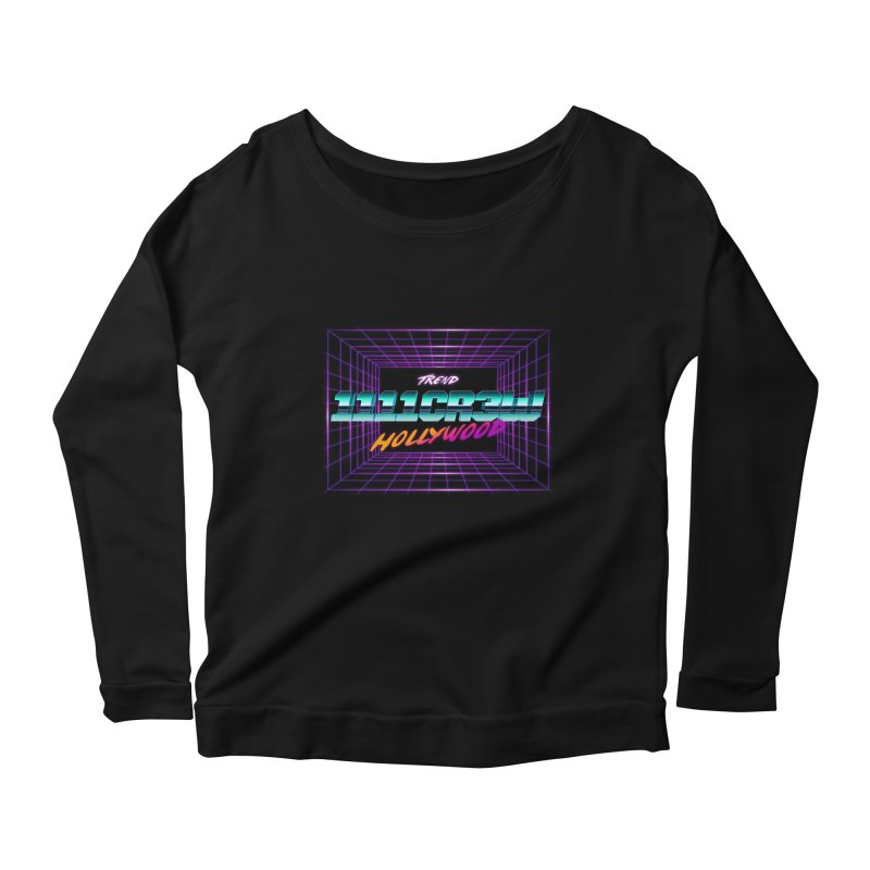 1111 Hollywood (Square) Women's Longsleeve Scoopneck  by 1111cr3w's Artist Shop