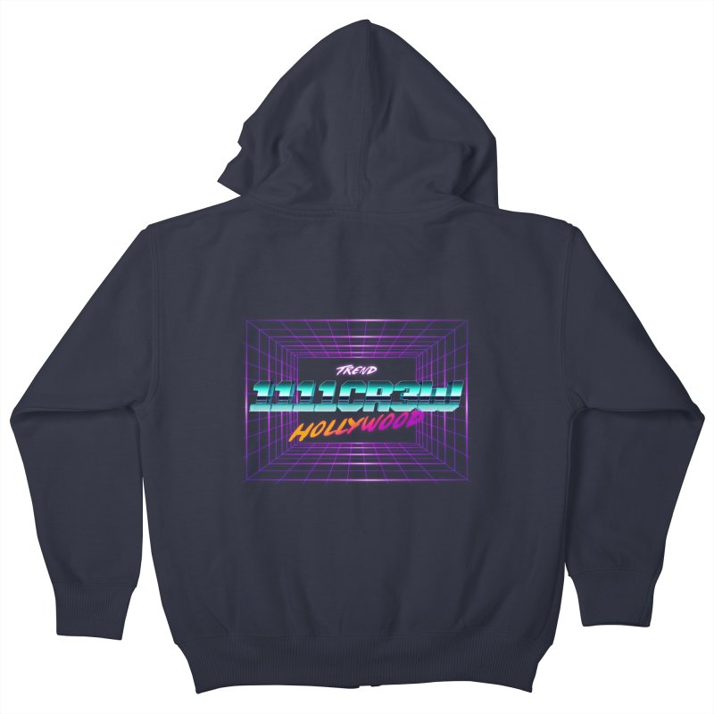 1111 Hollywood (Square) Kids Zip-Up Hoody by 1111cr3w's Artist Shop