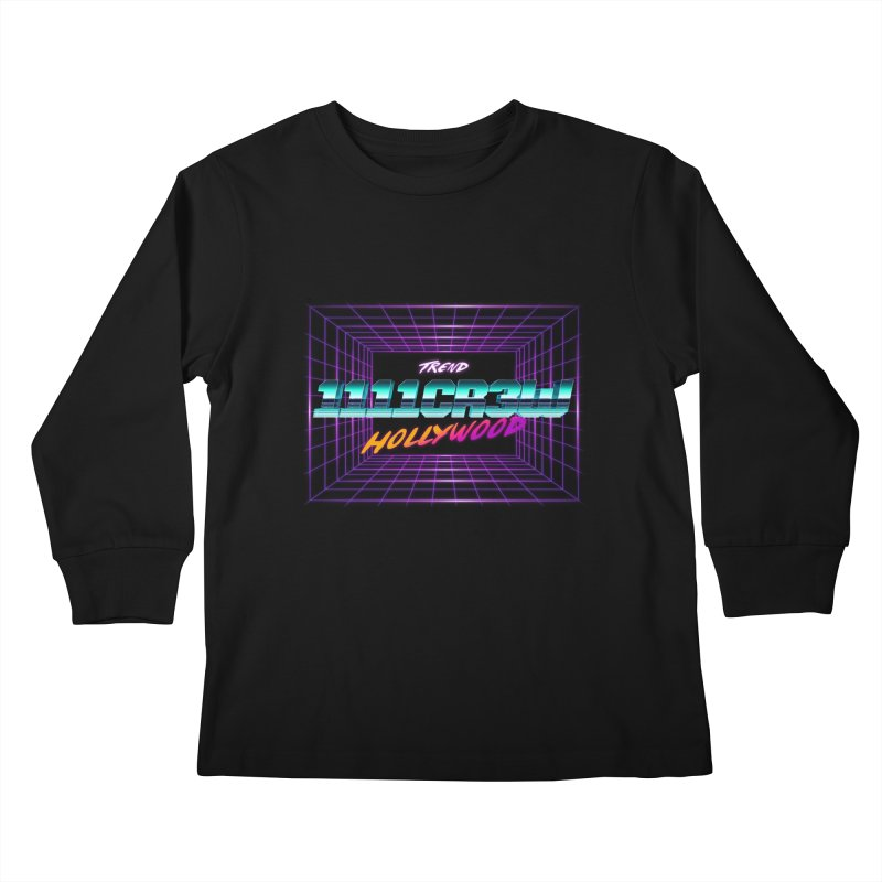 1111 Hollywood (Square) Kids Longsleeve T-Shirt by 1111cr3w's Artist Shop