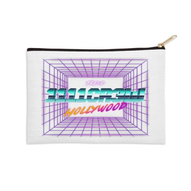 1111 Hollywood (Square) Accessories Zip Pouch by 1111cr3w's Artist Shop