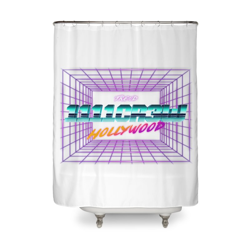 1111 Hollywood (Square) Home Shower Curtain by 1111cr3w's Artist Shop