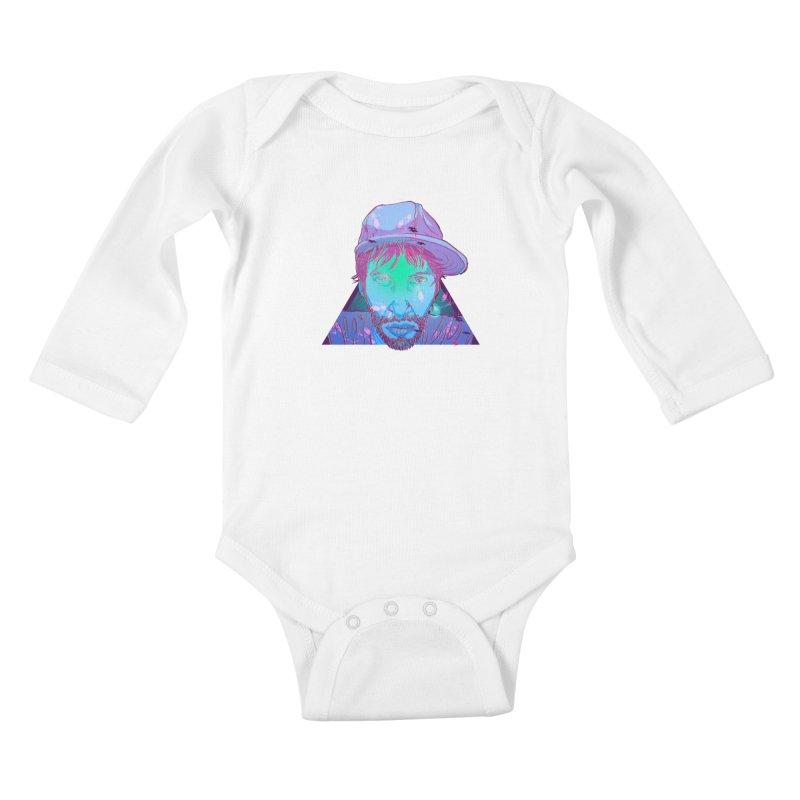 Triangle Kids Baby Longsleeve Bodysuit by 1111cr3w's Artist Shop