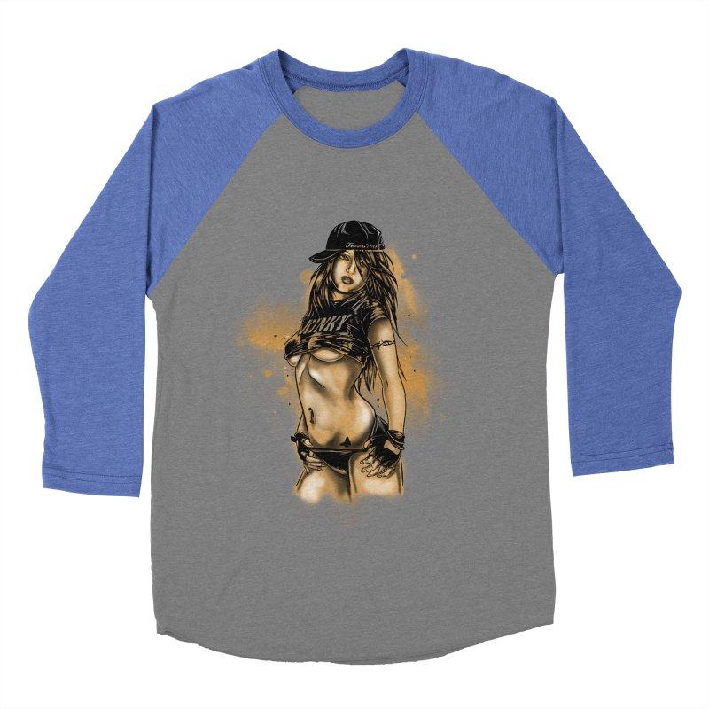 Girl Women's Baseball Triblend T-Shirt by 1111cr3w's Artist Shop