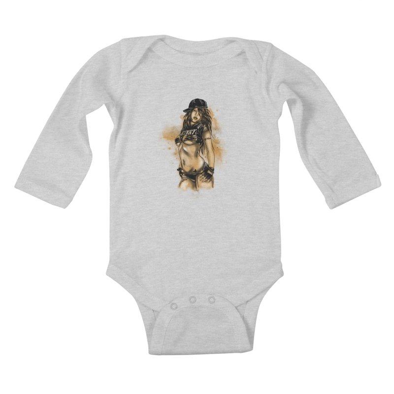 Girl Kids Baby Longsleeve Bodysuit by 1111cr3w's Artist Shop