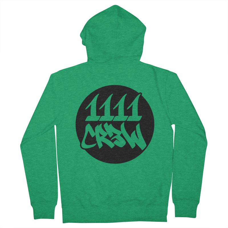 1111CR3W Men's Zip-Up Hoody by 1111cr3w's Artist Shop
