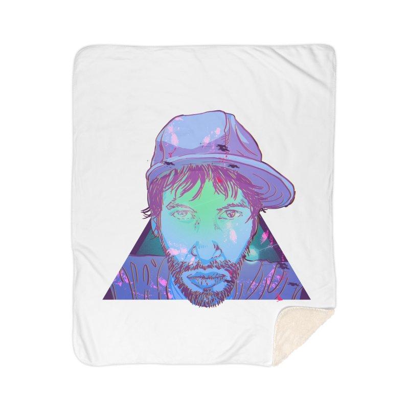 Triff Triangle Head Home Sherpa Blanket Blanket by 1111cr3w's Artist Shop