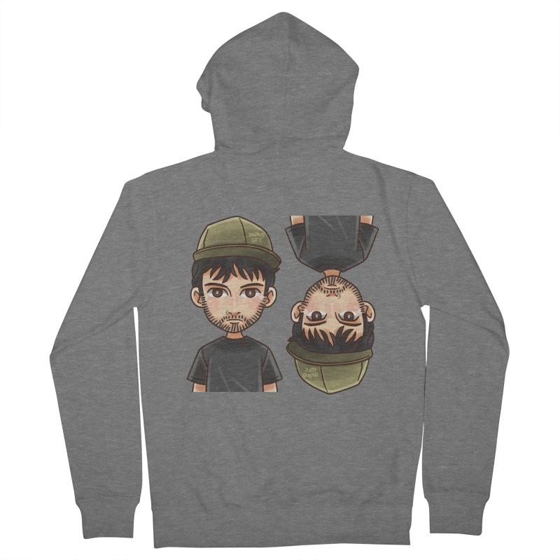 Cartoon Triff Men's French Terry Zip-Up Hoody by 1111cr3w's Artist Shop