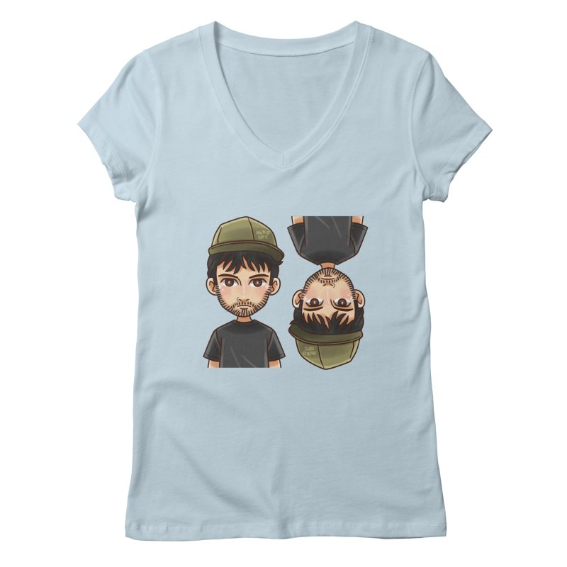 Cartoon Triff Women's Regular V-Neck by 1111cr3w's Artist Shop
