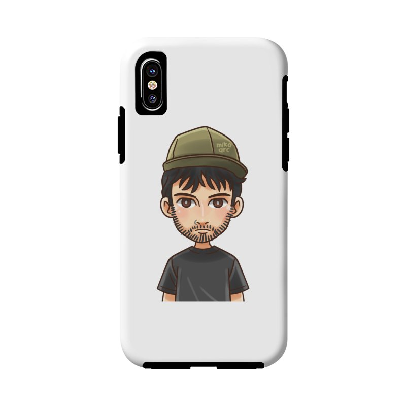 Hipster in iPhone X Phone Case Tough by 1111cr3w's Artist Shop