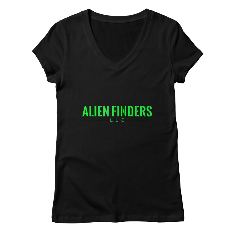 ALIEN FINDERS LLC Women's V-Neck by 11th Planet LLC