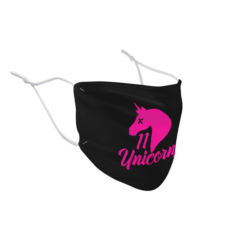 11 Unicorns Pink Logo Accessories Face Mask by 11 Unicorns Shop