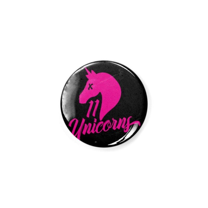 11 Unicorns Pink Logo Accessories Button by 11 Unicorns Shop