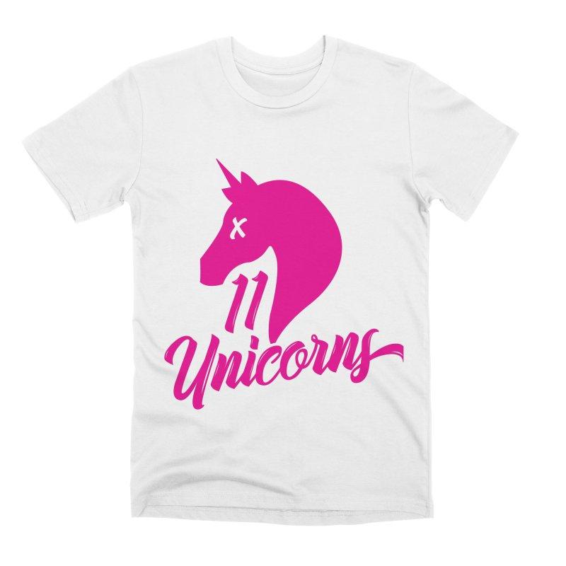 11 Unicorns Pink Logo Men's T-Shirt by 11 Unicorns Shop