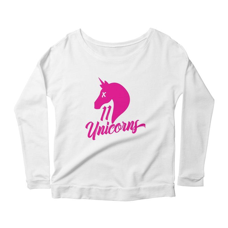 11 Unicorns Pink Logo Women's Longsleeve T-Shirt by 11 Unicorns Shop