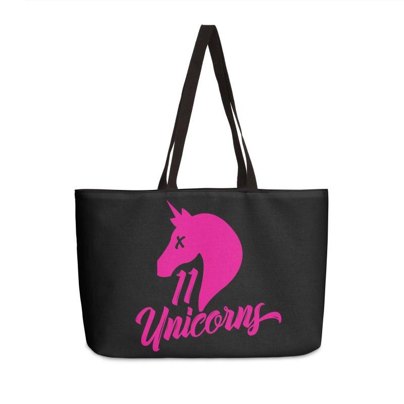 11 Unicorns Pink Logo Accessories Bag by 11 Unicorns Shop