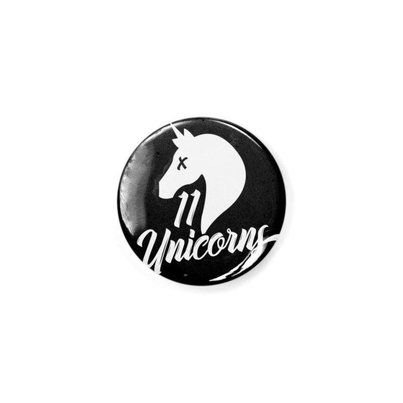 11 Unicorns Logo White Accessories Button by 11 Unicorns Shop