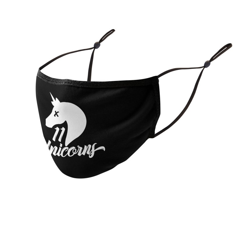 11 Unicorns Logo White Accessories Face Mask by 11 Unicorns Shop