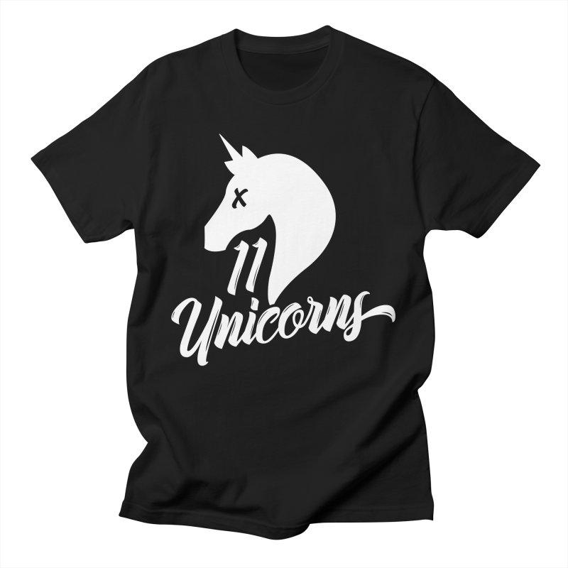 11 Unicorns Logo White Men's T-Shirt by 11 Unicorns Shop